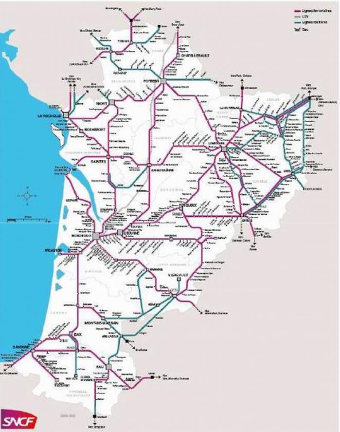 Regards sur  le train en Nouvelle-Aquitaine