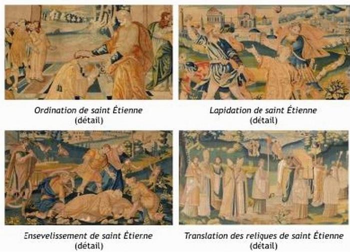 Des tapisseries évoquant Saint-Etienne de retour à la cathédrale de Toulouse