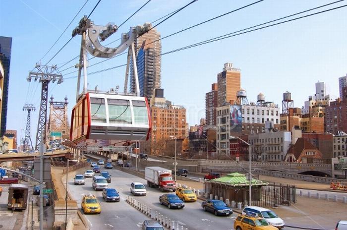 Le téléphérique de New-York (ph Poma)
