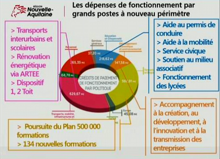 Nouvelle-Aquitaine:un budget sur fond de critiques