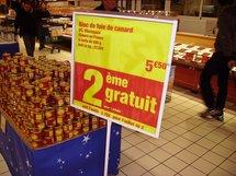 Promotion  en hyper-marché