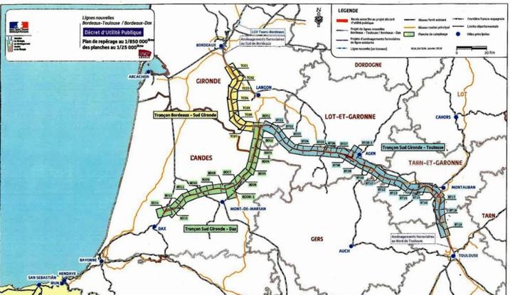 Un projet que Midi-Pyrénées veut sortir des cartons (carte tracé GPSO)