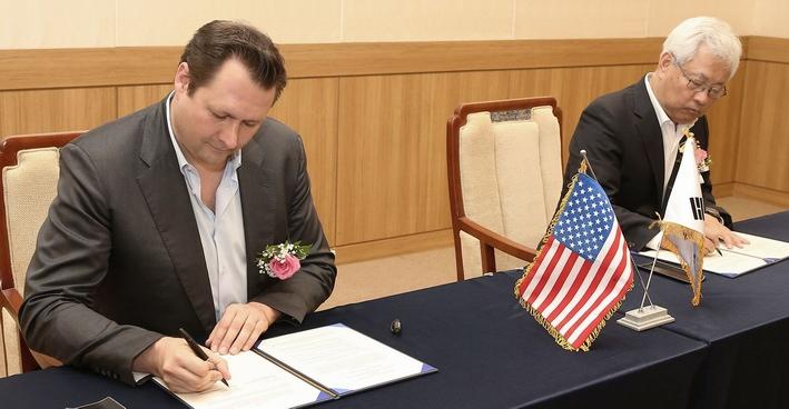 La signature de l'accord en Corée (DR)