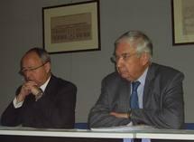 Le préfet D. Schmitt et J-M Berckmans (CRCI Aquitaine)