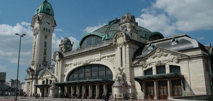 La gare de Limoges Bénédictins, la troisième construite dès l'arrivée du chemin de fer,monument historique, snobée par les LGV...(ph site SNCF)
