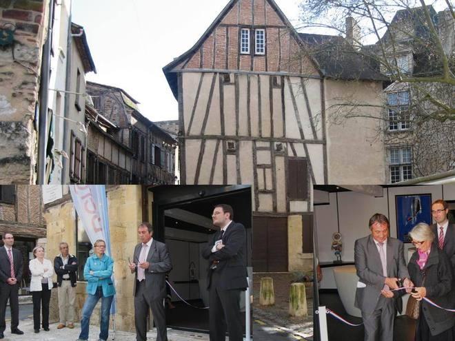 Inauguration par le Maire D. Rousseau et F. Ruet  de la nouvelle entrée du Musée