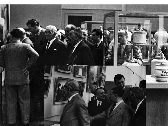 L'inauguration du 1er musée du tabac le 4 septembre 1950 (archives Seita Bergerac)