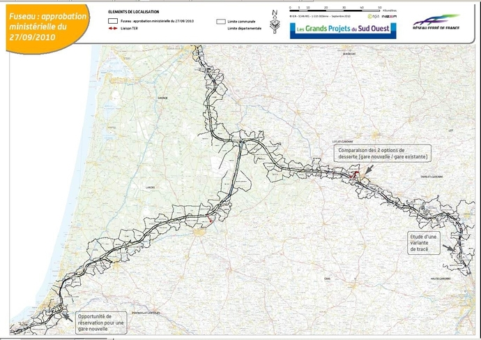 La LGV Sud-Europe-Atlantique redémarre     Voici le tracé des 1000 mètres