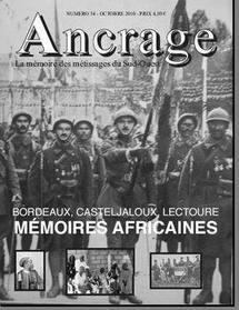 La revue Ancrage: les douleurs de l'Histoire