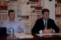 Franck Ballester ( à g.), directeur, et Denis Lurton, président de la FDSEA de la Gironde (ph Paysud)