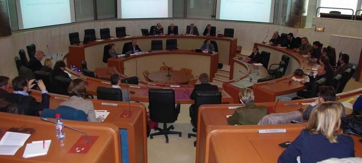 Une conférence sur l'oenotouirsme au département de la Gironde en 2012 (ph Paysud)