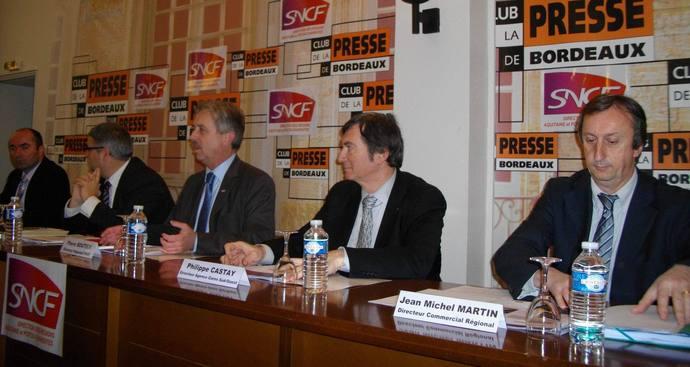 Les dirigeants de la SNCF Aquitaine-Poitou-Charentes (Ph Paysud)