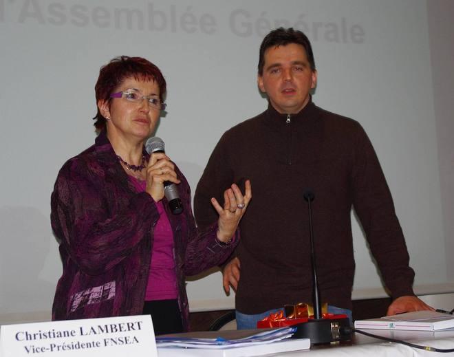 Christiane Lambert et Xavier de Saint-Léger (FDSEA 33)