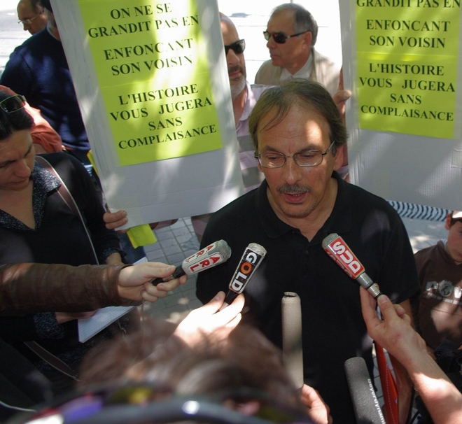 Dominique Techer répond à la presse audiovisuelle (Ph Paysud)