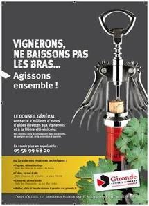 Le conseil général de la Gironde renforce son soutien à la viticulture