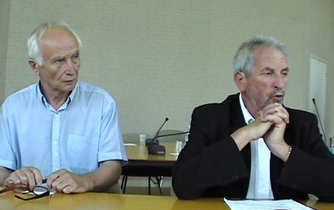 Bernard Péré et Jean-Pierre Raynaud (ph Paysud)
