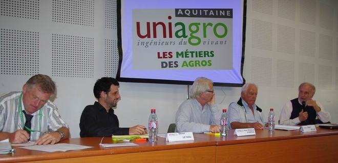 De g à d: MM. Millet, Le Faou, Rouillé d'Orfeuil, Billaz, Mazoyer (Ph Paysud)