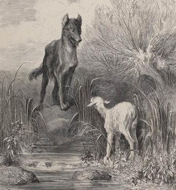 Illustration de la fable de La Fontaine par Gustave Doré en 1867 (source Gallica BNF)