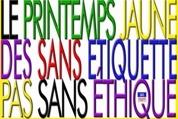 Un slogan du Conseil National de la Résistance des Gilets Jaunes