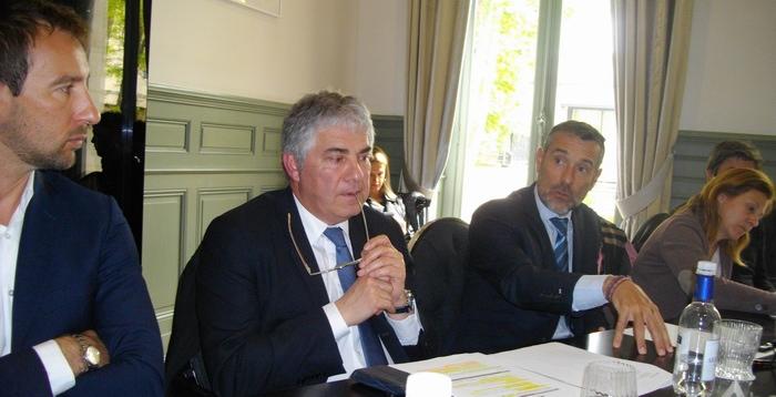 De g.à d.: Mathieu Vanshalt, Pacal Faugère, Rodolphe Lameyse (ph Paysud)