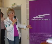 Simone Hérault,la voix de la SNCF (ph Paysud)