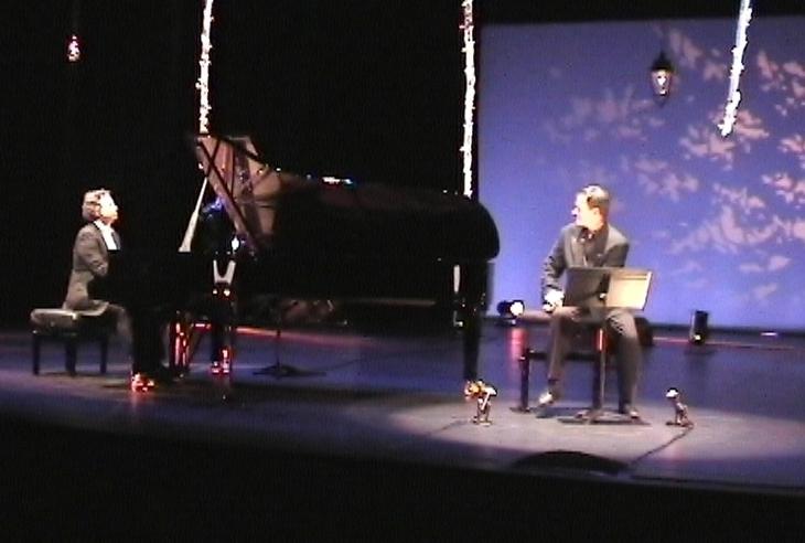 Pascal Amoyel et Francis Huster sur la scène d'Equinoxe (ph Paysud)