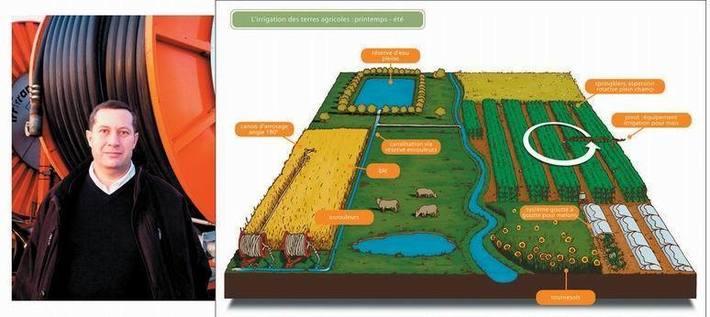 Jean-Luc Pousse- Irrigation: l'explication (Ph DR)