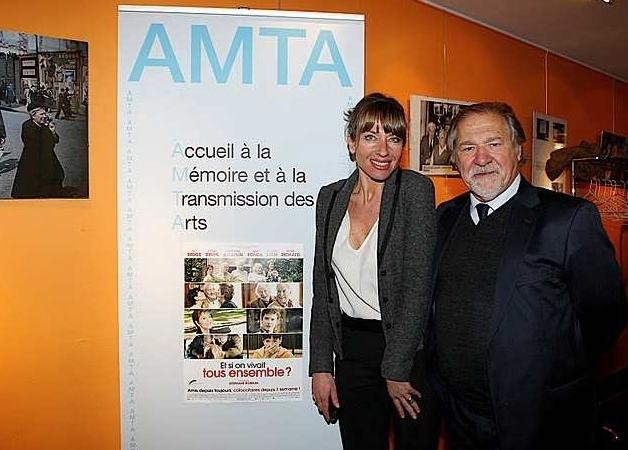 Carole Weis et Pierre Santini (Ph DR)