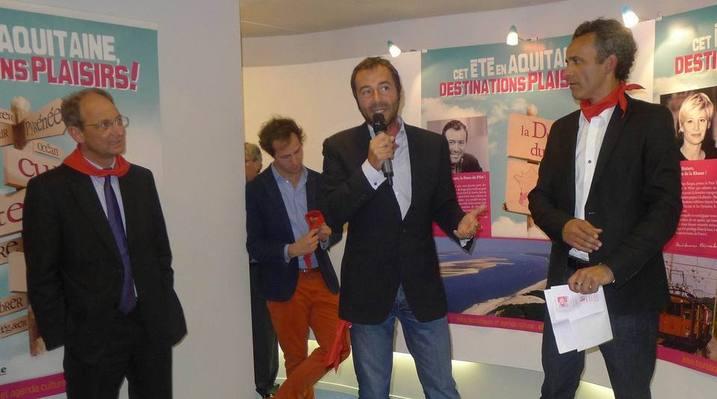 De gauche à droite, Bernard Montiel, Pascal Personne, Benjamin Darnaud, Jean-Philippe Viaud (Ph RM)