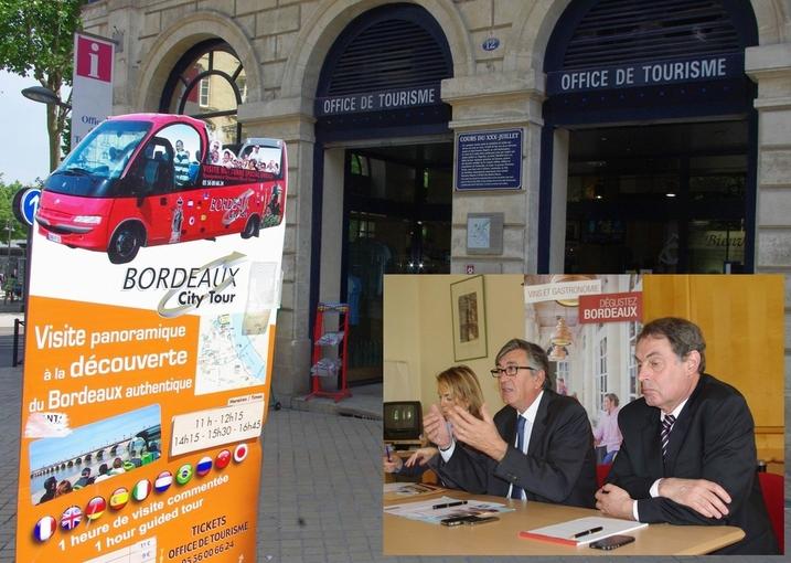 Office du Tourisme de Bordeaux. De G à D:Sophie Gaillard, Stephan Delaux, Jean-Daniel Terassin (Ph Paysud)