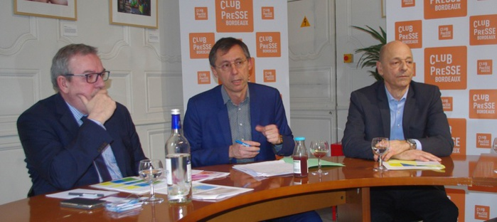 De g.à d.:MM.Pascal Emile,Lourde-Rocheblave,Philippe Claussin (ph Paysud)