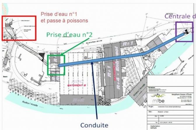Le plan du site de production (source Valorem)