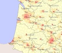 La carte des hôpitaux dans le SO (doc ARS)-Cliquer
