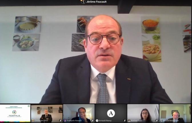 Jérôme Foucault et les autres participants à la visioconférence (DR)