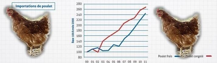 La montée en spectaculaire des importations (Ph Paysud)