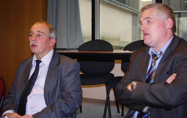 Dominique Graciet (à gauche) en compagnie de Bruno Millet, directeur (ph Paysud)