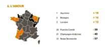 L'Aquitaine obtient le meilleur Indice relatif de bonheur (IRB) pour l'amour