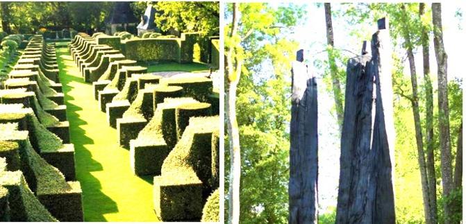 Les Jardins et une sculpture (ph montage)