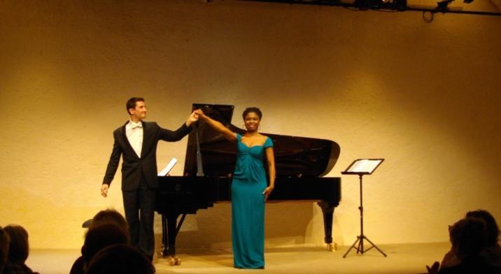 Clément Mao-Tokats et Omo Bella sur la scène de Nohant (Ph Paysud)