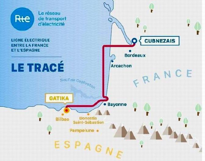 Le tracé de ligne électrique France-Espagne validé