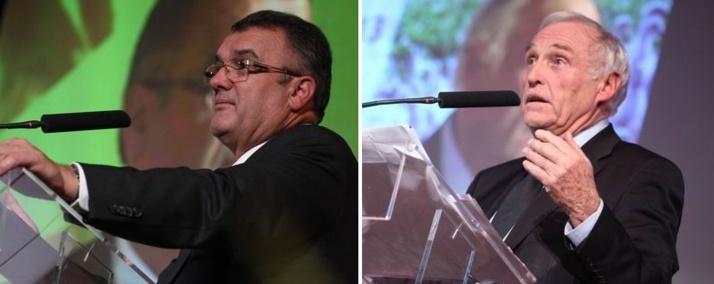 Michel Prugue et Jean-Marc Sylvestre à Hagetmau (ph Studio Ernest)