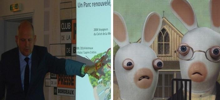 Communication à Bordeaux; Lapins Crétins (DR)