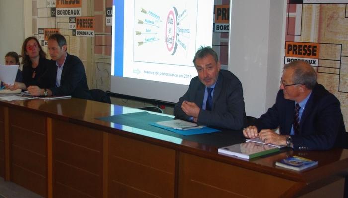 Communication au Club de la presse de Bordeaux (Ph Paysud)
