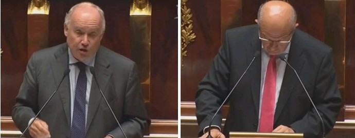 Dominique Bussereau et Gilles Savary (ph vidéo LCP)