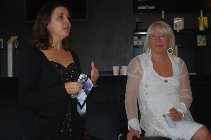 Cindy Pédelaborde et Eliane Lavail au Rocher de Palmer (Ph Paysud)