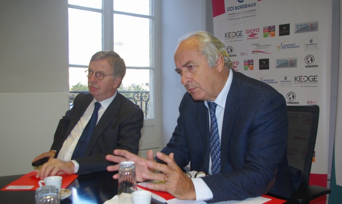 Pierre Goguet,président, et à sa droite, Dominique Babin, directeur général (Ph Paysud)