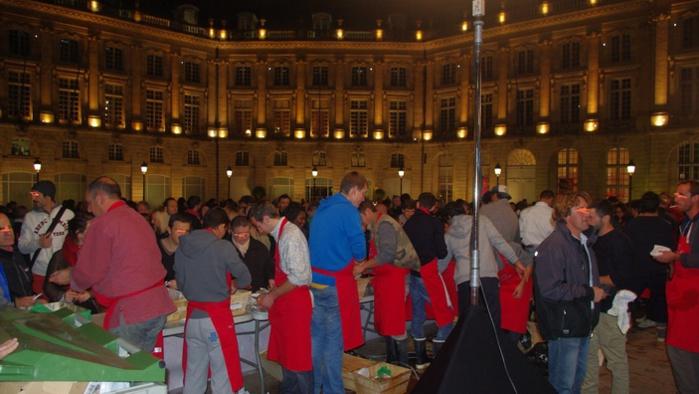 L'opération huîtres Place de la Bourse (Ph Paysud)