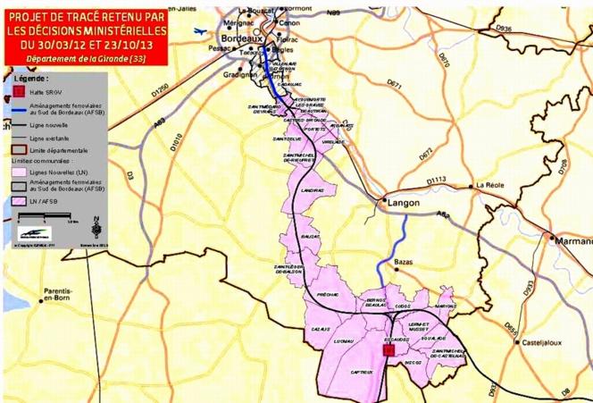Mobilisation contre le tracé de la LGV dans le Sauternais