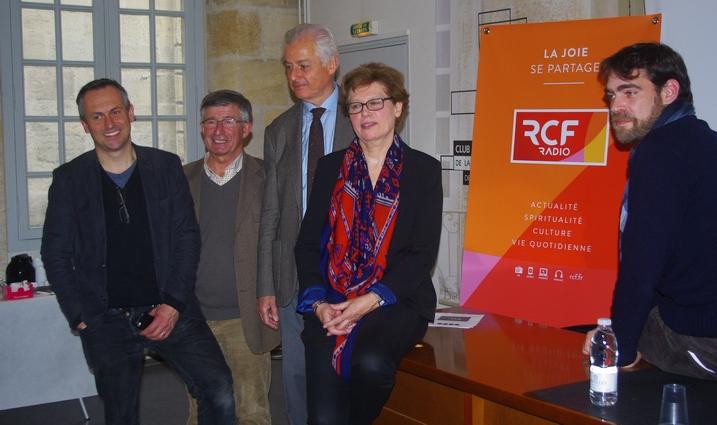Une partie des responsables et animateurs de RCF Bordeaux (Ph Paysud)