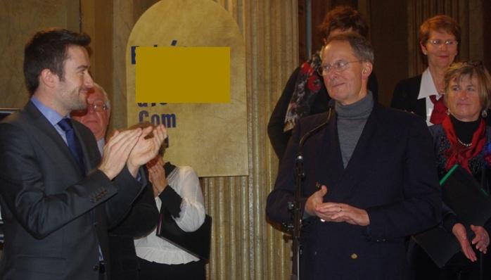 Fabien Robert félicite Yves Duclos (Ph Paysud)